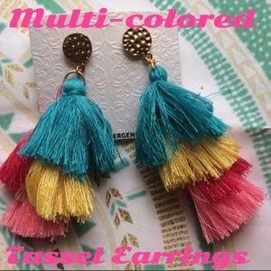 Jewelry - Multi Colored Tassel Earrings